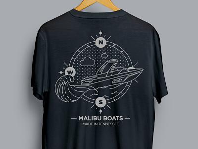 Malibu Boats Gear Store Design vector illustrator illustration t-shirt design t-shirt print apparel logo design branding design branding apparel design apparel