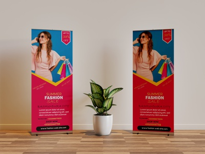 """SUMMER FASHION""ROLL UP BANNER rollup banner mokup branding leaflet design poster design uiux colourful design dribbble best shot kdp best designer brand identity best design agency branding typography adobe photoshop abstract design restaurent design roll up banner design pull up banner stand banner roll up banner"