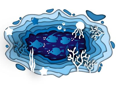Fish Aquarium pond papercut illustration attractive artist art designer photography artwork graphicdesign creativity