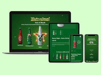 Your Design |  Heineken Ireland beer bottle beer christmas party christmas design ecommerce design ecommerce shop ecommerce website website design