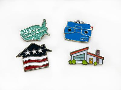 Enamel Pins veterans united usa viewmaster military house metal print pins enamel
