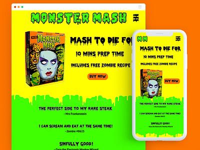 Monster Mash - Mocktober Challenge mocktober 2019 halloween website ui design mobile responsive mocktober
