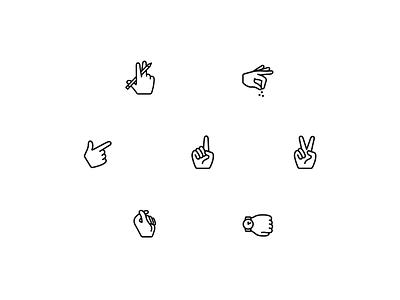fingers icon logo ui illustration