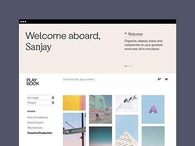 Welcome aboard! landing page web ux flat design branding