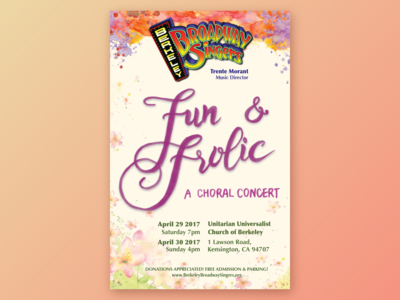 Fun and Frolic - Concert Flyer