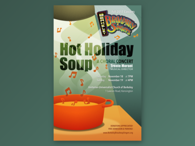 Hot Holiday Soup - Concert Flyer