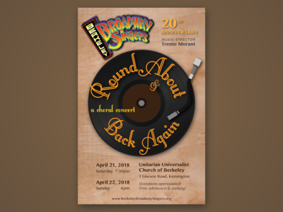 Round About and Back Again - Concert Flyer