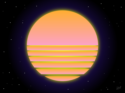 VaporSun2 icon futuristic colors artwork cover design cover cover art illustrator vaporwave retrowave illustration cyberpunk