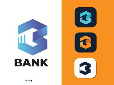 Bank B Letter Logo b letter logo modern minimalist logo modern logo monogram logo minimalist logo logo design company logo business logo brand identity