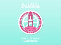 Dribbble Debut Rocket