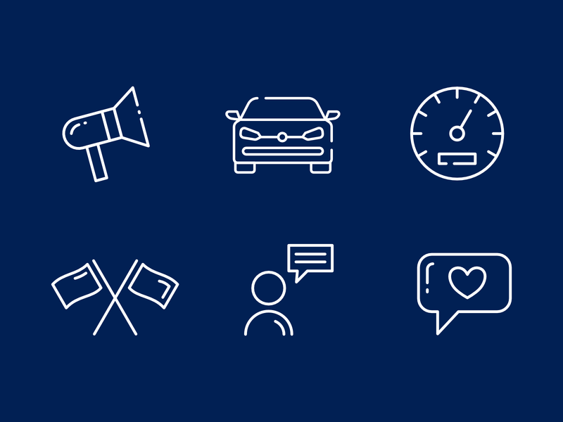 Automotive Brand Instagram Icons identity design branding identity visual design colorful minimal highlights instagram automotive icons set iconset icons