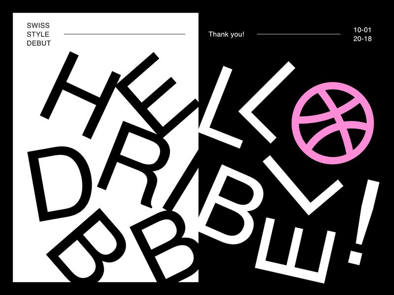HRDBBIELLBLOE! (hello) black and white art swiss style swiss minimalism minimal design typography