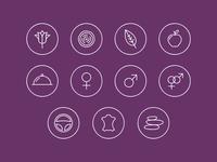 Icon set - Aromas