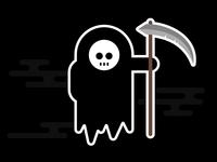 Halloween Reaper Sticker