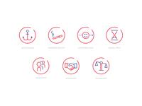 Icon Set - Behavioral Economy/Decision Errors
