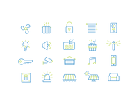 Two Color Icon Set - Smart Home