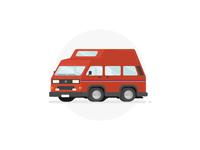 Volkswagen T3 California Camper Illustration