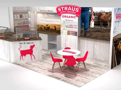Straus Family Creamery event management exhibition booth design exhibit design trade show booth booth design