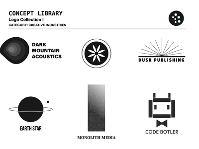 Concept Library: Collection I - Creative Industries flat minimal typography vector branding logo design