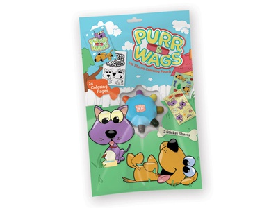 Purr & Wags Coloring Wheel kit