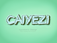The name for  CAIYEZI,by iPad Pro