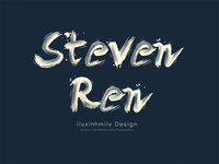 The name for Steven Ren,by iPad Pro