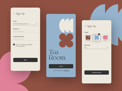 Daily UI 001 - Sign Up ecommerce tea app tea app ui 회원가입 디자인 sign up signup dailyui daily ui daily ui 001