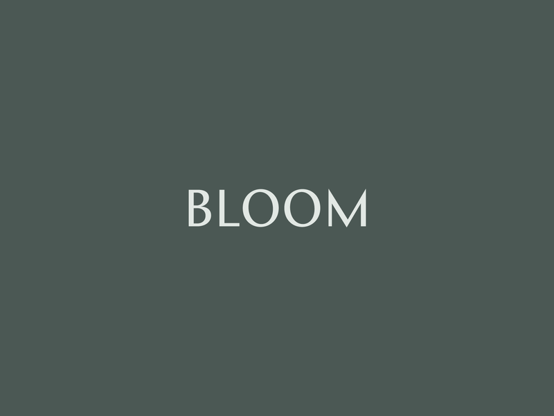 Bloom Logotype logo design branding brand typography logo logotype