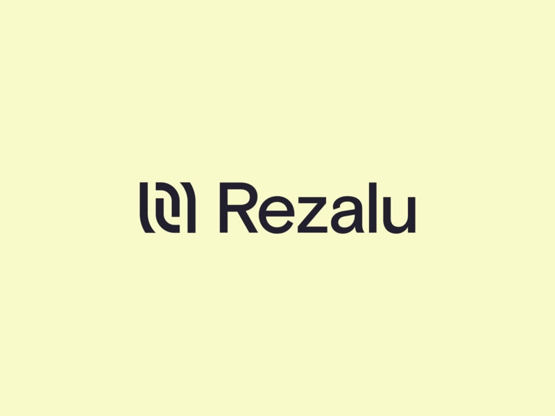 Rezalu Logo yellow visual identity mark thumbprint resume identity logo brand
