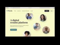 Rezalu Website & Product UI resume builder resume app interactive product website ux uiux ui