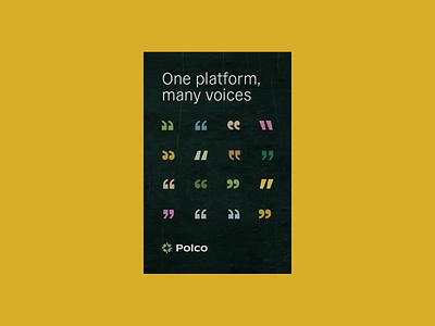 Polco Posters identitydesign brand identity logo branding