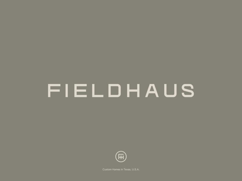 Fieldhaus Branding design brand logo interior design home logomark wordmark custom type typography logotype