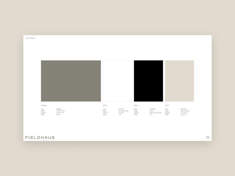 Fieldhaus Guidelines color palette typography branding design logo brand guideline brand book branding