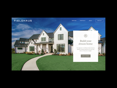 Fieldhaus Website brand design architecture logo brand architecture interior design website design website ui design ui