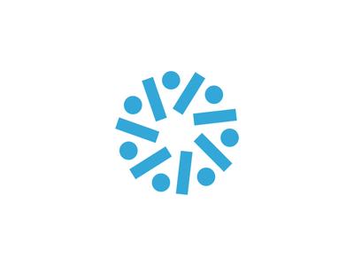 Populi Mark logo design circle dots education logomark branding brand logo