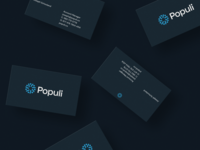 Populi Business Cards figma designs brand lockup logotype logo business card design