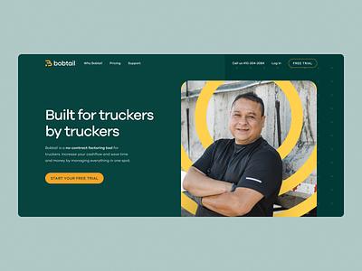 Bobtail Website illustration landing page brand trucking freight bobtail brand identity logo branding website ux ui
