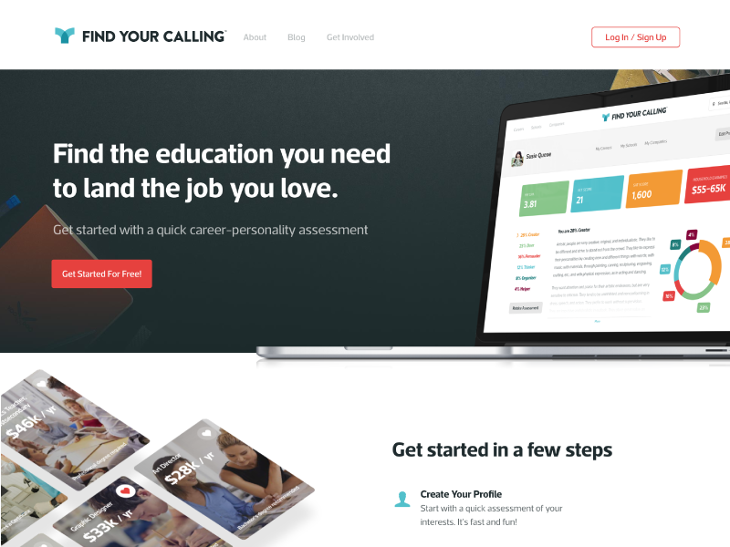 Fyc landing page dribbble