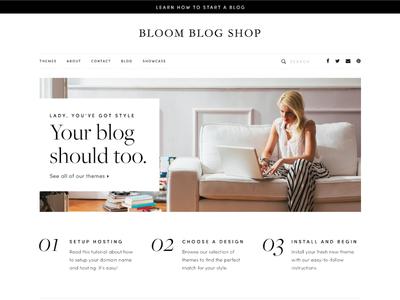 Bloom Blog Shop Redesign