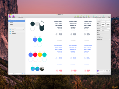 Sketch Setup color palette typography strategy planning sketch focus lab sketch app