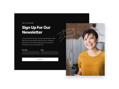 Newsletter Signup slate hand drawn icons photography drop shadow black call to action cta newsletter ux ui