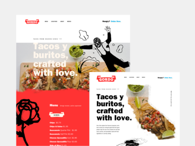 Gordo Jam tacos rose collaboration jam session focus lab gordo landing page website ui