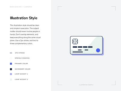 Illustration Definition credit card focus lab branding brand guidelines style guide illustration