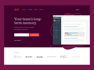 Slab is on Product Hunt! type flat animation app branding ux icon typography ui design logo illustration