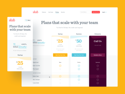 Slab Pricing animation app branding design flat icon illustration logo type typography ui ux