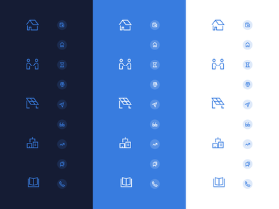 2px and/or 1.5px Icons ¯\_(ツ)_/¯ uidesign focuslab icon set community solar solar branding agency branding stroke iconography icon