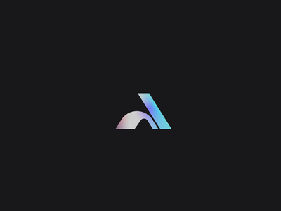 Ayyyy abstract mark focus lab letter a a gradient brand logo