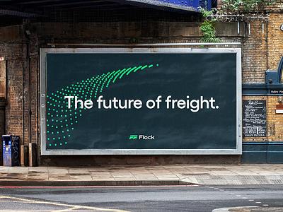 Flock freight illustration typography focus lab brand identity logodesign logo brand design branding brand