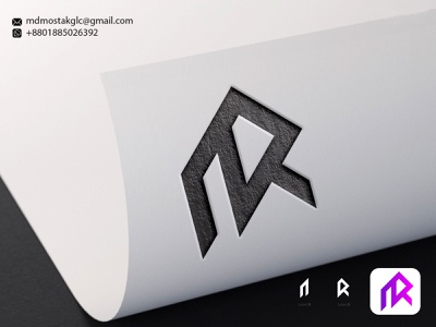 Letter N+R Logo Concept ui vector illustration design simple modern logo design branding motion graphics graphic design animation modern logo logodesign letter logo letter nr logo concept
