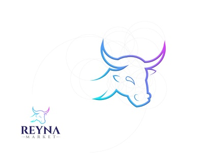Golden Ratio (Reyna Market) vector illustration design simple modern logo design modern logodesign ui branding logo motion graphics graphic design 3d animation